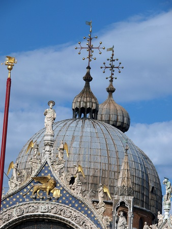 The dome of the Basilica San Marco in Venice photo