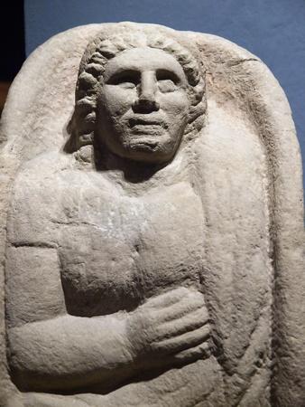 etruscan: Etruscan gravestones. Chiusi, Tuscany, Italy