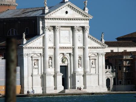 architrave: Venice - basilica of San Giorgio Maggiore. San Giorgio Maggiore is a basilica in Venice, Italy designed by Andrea Palladio and located on the island of San Giorgio Maggiore.
