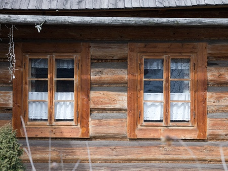 Close up of window in polish country house Stock Photo - 9326651