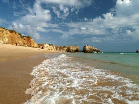 vilamoura: One of the most beautiful beaches in the world - Praia da Rocha in Portimao, Algarve, Portugal
