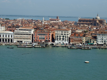 Venice - view from the tower of the church of San Giorgio Magiore photo