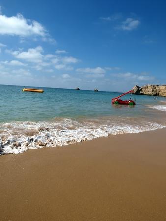 vilamoura:  Beach of Praia da Rocha in Portimao, Algarve Stock Photo