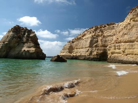 praia:  Beach of Praia da Rocha in Portimao, Algarve Stock Photo