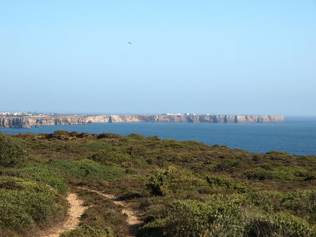 Monumental cliff coast near Cape St  Vincent, Portugal photo