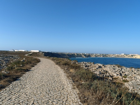 henry: Fortress of Sagres Point was founded by Henry the Navigator. Completely destroyed by the earthquake Stock Photo