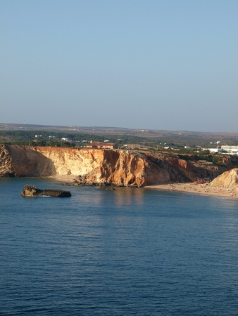 coast near Sagres Point in Portugal photo
