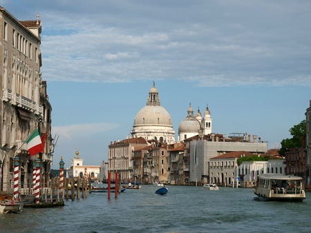 Venice - View of Canal Grande and Salute Stock Photo - 9733081