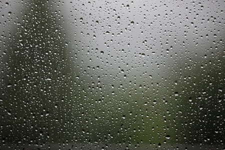 Many raindrops on a window Archivio Fotografico