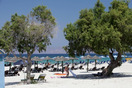 Mastichari beach on Kos Island, Dodecanese 新聞圖片