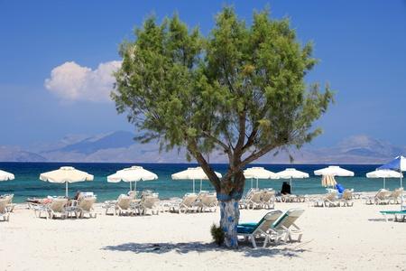 Mastichari beach on Kos Island, Dodecanese Archivio Fotografico