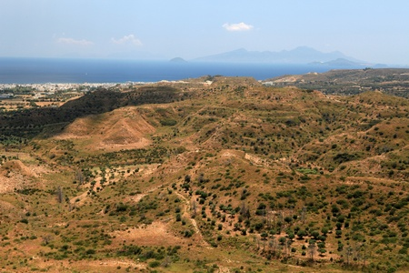 Ruins  of the Medieval Castle near Antimachia village photo