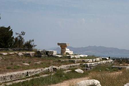 hippocrates: Asklepion place on the island of Kos where Hippocrates has built one of the first hospitals in the European civilization Stock Photo