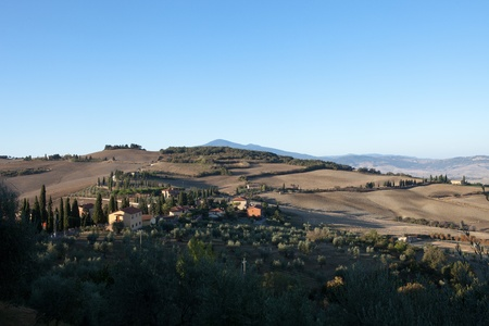 The hills around Pienza and Monticchiello  Tuscany, Italy. Stock Photo - 10686640
