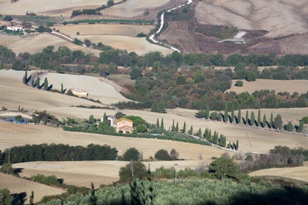 The hills around Pienza and Monticchiello  Tuscany, Italy. Stock Photo - 10719085