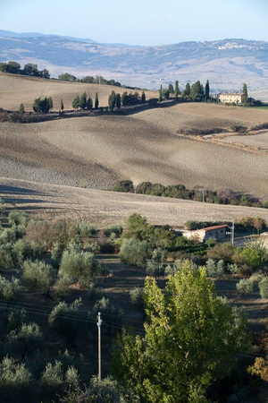 The hills around Pienza and Monticchiello  Tuscany, Italy. Stock Photo - 10719086