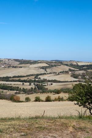 monticchiello: The hills around Pienza and Monticchiello  Tuscany, Italy.