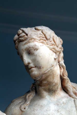 dodecanese: Ancient sculpture in Kos town. Dodecanese, Greece