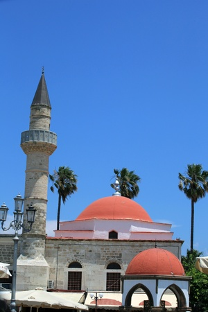 dodecanese: Mosque in the city of Kos  . Kos island, Dodecanese.
