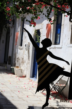 Greek Street dancer in Kos. Dodecanese, Greece