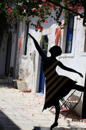 Greek Street dancer in Kos. Dodecanese, Greece