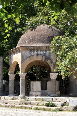 hippocrates: The Plateia of the Plane Tree of Hippocrates in Kos town. Greece