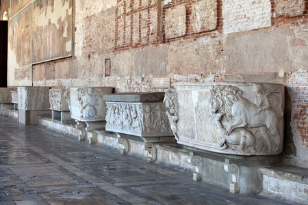 camposanto: Pisa - Camposanto - Cemetery was constructed in 1278 to house the sacred dirt brought back from Golgotha during the Crusades. It then became the burial place of the Pisan upper class Editorial