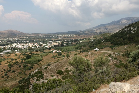 kos: View  on Tigaki. Kos Island Greece Stock Photo