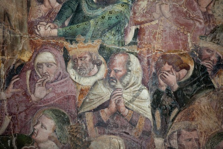 The Last Judgement - Campo Santo, Pisa. Camposanto - Cemetery was constructed in 1278 to house the sacred dirt brought back from Golgotha during the Crusades. It then became the burial place of the Pisan upper class