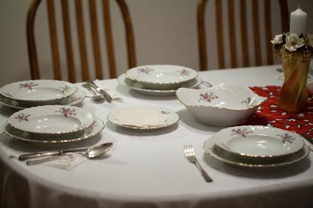 Elegant Christmas table setting Stock Photo - 11705789