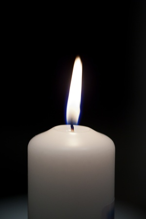 Flame of candle  photo