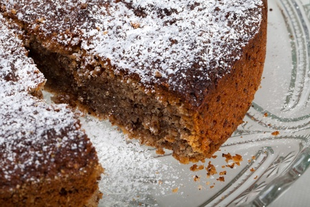 Home made cake with different kinds of nuts photo