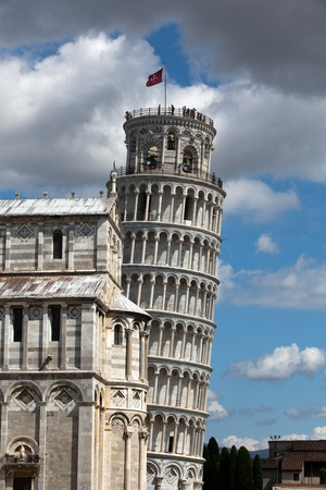 Pisa - Leaning Tower and Duomo in the Piazza dei Miracoli