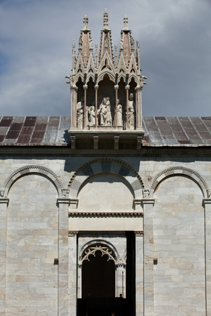 Pisa - Camposanto - Cemetery was constructed in 1278 to house the sacred dirt brought back from Golgotha during the Crusades. It then became the burial place of the Pisan upper class Stock Photo - 11887139