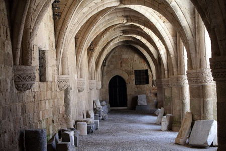 Rhodes - the medieval building of the Hospital of the Knights.At present Archaeological museum .