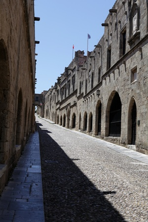 Old Rhodos town. Street of the Knights (Now Embassy street)
