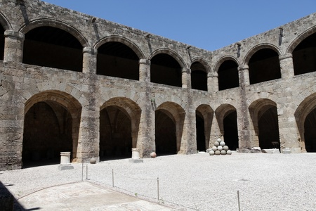 conquest: Rhodes - the medieval building of the Hospital of the Knights.At present Archaeological museum .