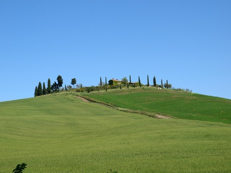 The landscape of the Val d'Orcia. Tuscany. Italiy Stock Photo - 12337294