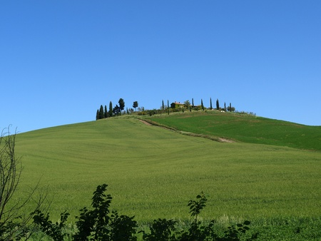 The landscape of the Val. Tuscany. Italiy Stock Photo - 12335993