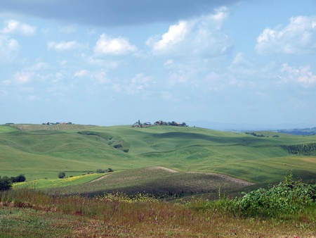 The landscape of the Val d'Orcia. Tuscany. Italiy Stock Photo - 12337312