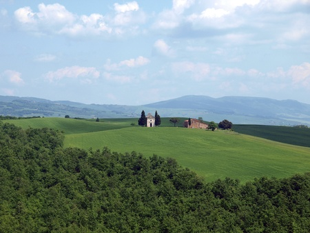 The landscape of the Val d'Orcia. Tuscany.  Stock Photo - 12337320