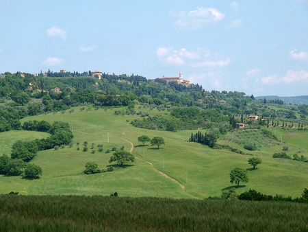 The landscape of the Val d'Orcia. Tuscany. Stock Photo - 12337313