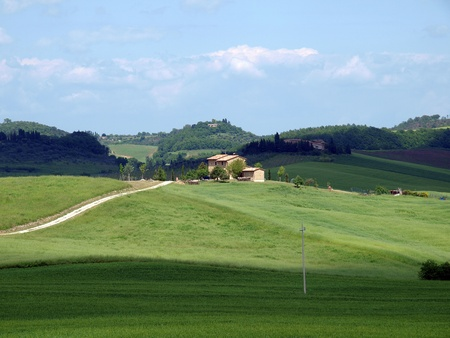 orcia: The landscape of the Val d'Orcia. Tuscany.