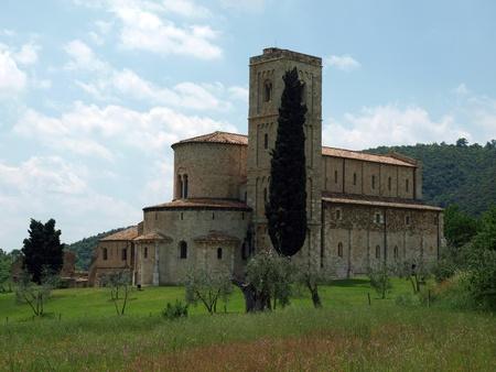 Sant Antimo Abbey near Montalcino in Tuscany, Italy Stock Photo - 12335994