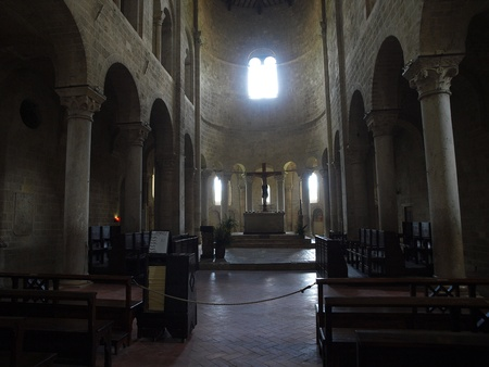 Sant Antimo Abbey near Montalcino in Tuscany, Italy