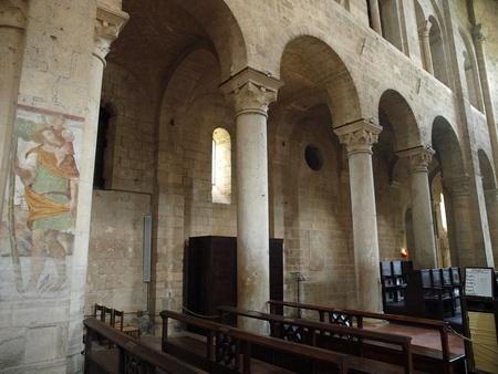 montalcino: Sant Antimo Abbey near Montalcino in Tuscany, Italy Editorial