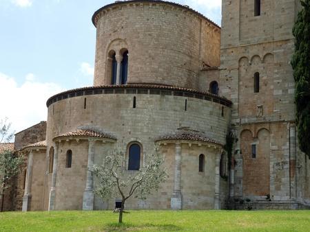 Sant Antimo Abbey near Montalcino in Tuscany, Italy Stock Photo - 12335999