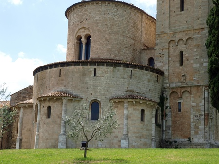 Sant Antimo Abbey near Montalcino in Tuscany, Italy Stock Photo - 12335999