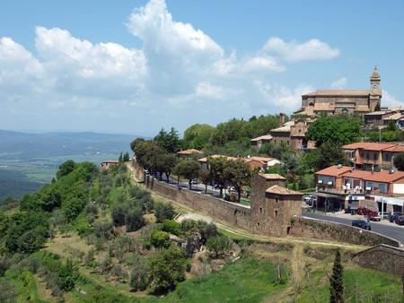 montalcino: Medieval Town In Montalcino Tuscany, Italy Stock Photo
