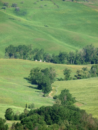sant'antimo: The beautiful landscape of Tuscany. View of the hills between Montepulciano and Pienza